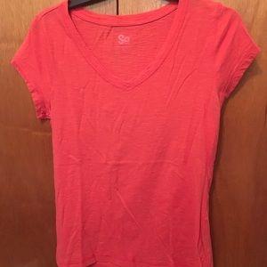 SO XL orange shirt sleeve T-shirt